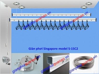 Giàn phơi Singapore model S-15C2P